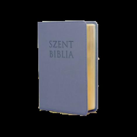 Szent Biblia mini- metálkék,virágos-cippzár Patmos