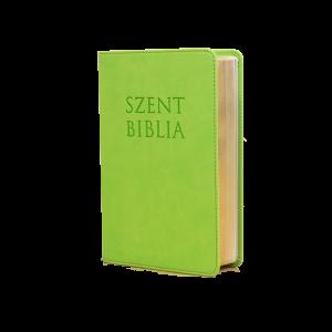 Szent Biblia mini-almazöld Patmos
