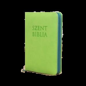 Szent Biblia,mini,almazöld-cippzár Patmos
