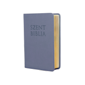 Szent Biblia mini,metálkék-cippzár Patmos