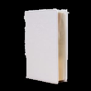 Szent Biblia közepes- fehér,cipzárral